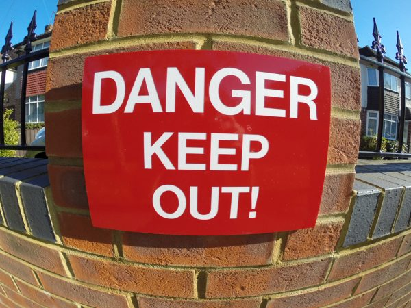 DANGER KEEP OUT, Sign