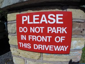PLEASE DO NOT PARK, Sign