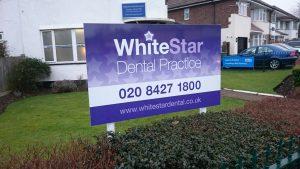 dentist sign on posts